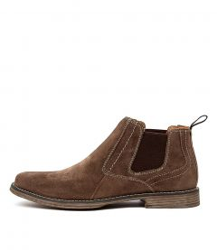 Mills Taupe Suede
