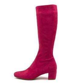 Hayleys Hot Pink Stretch Microsuede