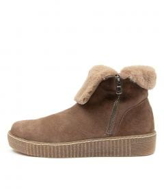 Troy Taupe Suede-fur