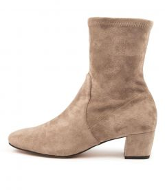 Hartful Dj Taupe Stretch Microsuede