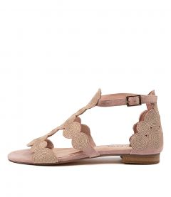 PRINCED TO ROSE ROSE GOLD EMBROIDERY SUEDE
