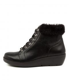 Beau W Black Leather-fur