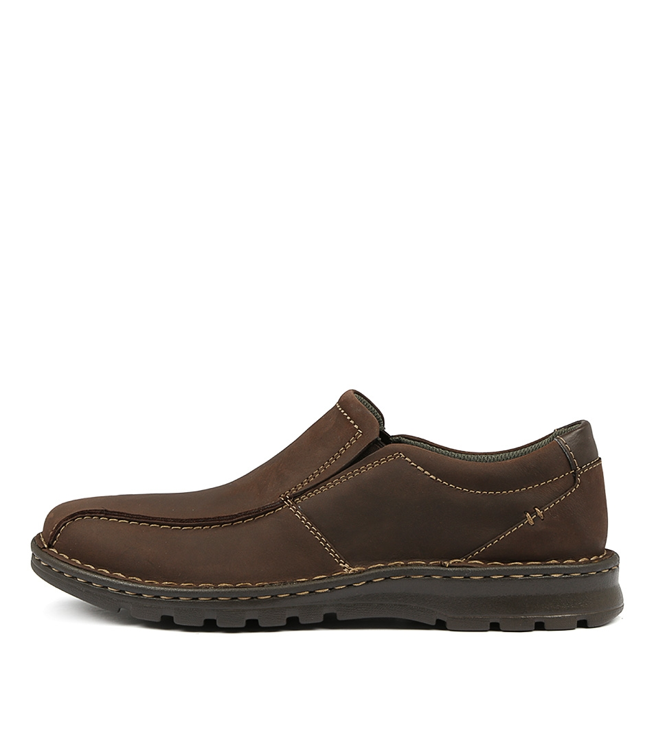 41134c1351 VANEK STEP DARK BROWN LEATHER by CLARKS - at Mountfords