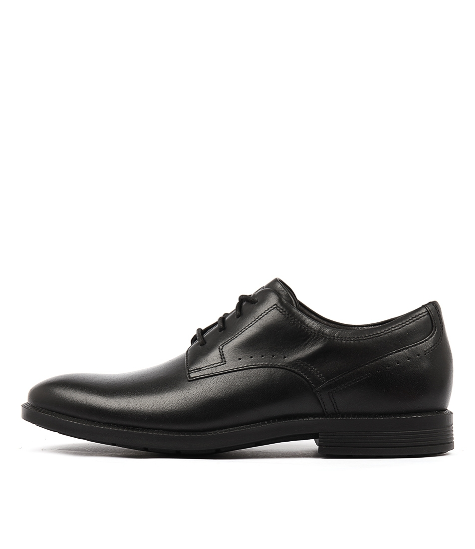 Dp modern wp plaintoe black leather by rockport at mountfords