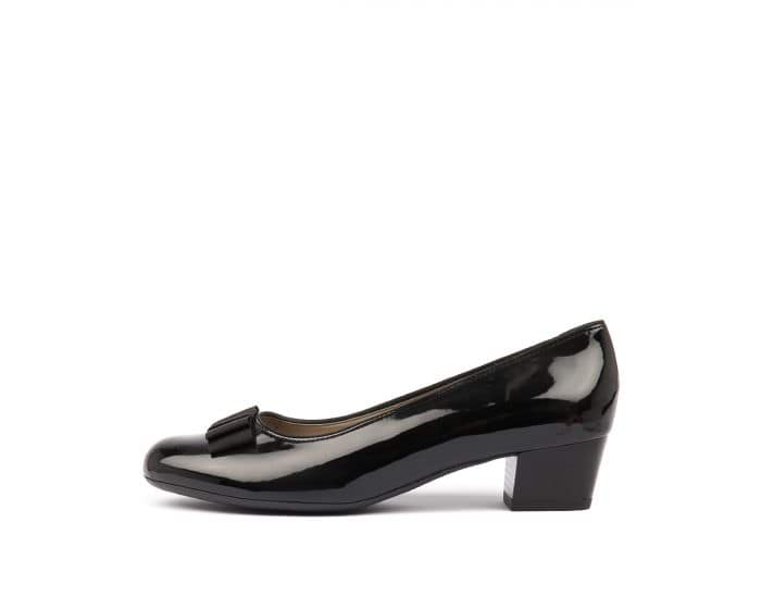 c8646739 NIZZA 12 BLACK PATENT SYNTHETIC by ARA - at Mountfords