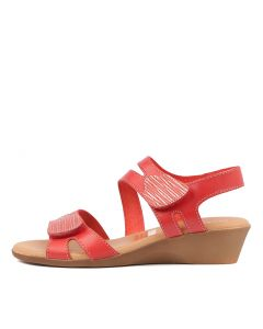 LUCIANA RED MULTI LEATHER