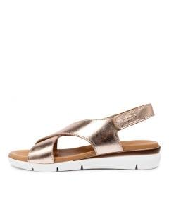 ZANNITA ROSE GOLD LEATHER