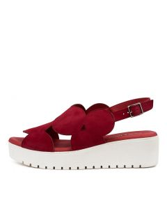 OSWEL DJ RED WHITE SOLE SUEDE