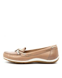 D VEGA MOC B TAUPE CREAM LEATHER