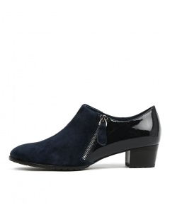 TAMES NAVY SUEDE PATENT