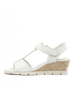 MALASIA T BAR WHITE LEATHER