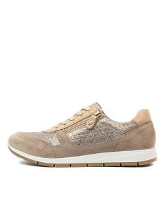 ELANAH TAUPE GOLD SUEDE LEATHER