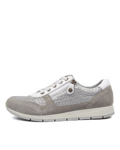 ELANAH SILVER GREY SUEDE LEATHER