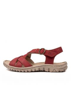 LUCIA 01 RED LEATHER