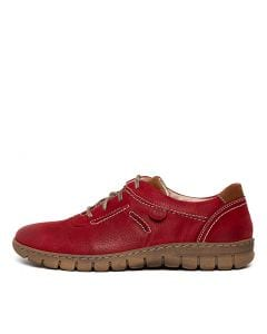 STEFFI 07 RED COMBO LEATHER