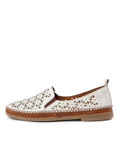 SIDNEY-2 WHITE LEATHER