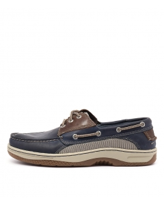 BILLFISH 3 EYE NAVY BROWN LEATHER