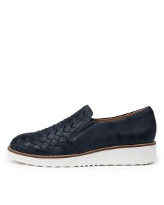 OSCAT TO NAVY WHITE SOLE LEATHER