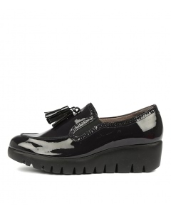 WISHBONE NAVY BLACK PATENT LEATHER