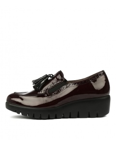 WISHBONE BORDO BLACK PATENT LEATHER