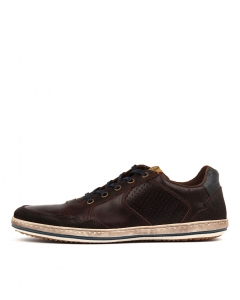 CREST DARK BROWN LEATHER
