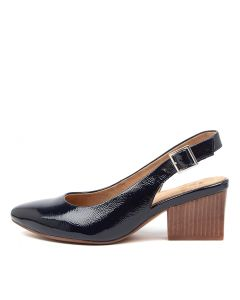 VERITY W ZR NAVY CRINKLE PATENT